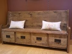 Rustic bench...perfect by erma