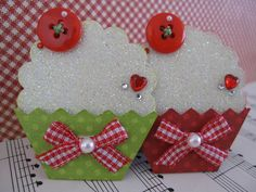 https://flic.kr/p/945Ymy | Glittery Cupcake Embellishments | Handmade by me. TFL :)
