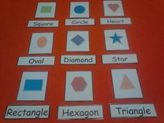 Shapes Word Match in FELT or LAMINATED Card Stock - Kids Learning / Educational - Phonics - Reading - Preschool - Kindergarten - Children's