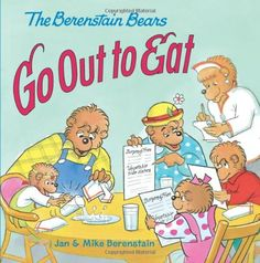 The Berenstain Bears Go Out to Eat by Jan Berenstain http://www.amazon.com/dp/0060573937/ref=cm_sw_r_pi_dp_el-.tb0HFHC8P