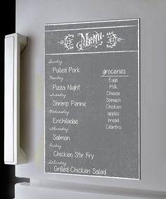 Look at this Gray Dry-Erase Menu Magnet on #zulily today!