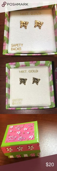 I just added this listing on Poshmark: NWT 14K Gold Butterfly stud earrings. #shopmycloset #poshmark #fashion #shopping #style #forsale #Jewelry