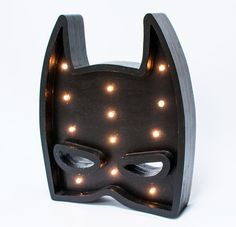 "♥ Decorations made with love. ♥ Every work is originally designed by us. We proudly present our beautiful lightbox ""Batman"". It is a handmade wooden lightbox operated by led lights. You can use it as unusual home décor and nightlights. Works well in children's rooms and also as a"