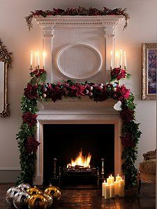 1000 images about christmas mantels on pinterest - Chimenea de decoracion ...