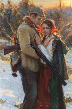 Artist: Daniel F. Gerhartz - Title: Homecoming - oil