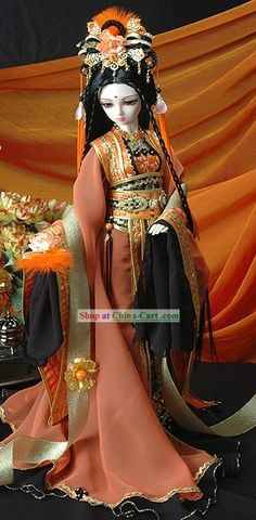 Ancient Chinese Fairy Costume Complete Set rental set traditional buy purchase on sale shop supplies supply sets equipemnt equipments Pretty Dolls, Beautiful Dolls, Bjd Dolls, Barbie Dolls, Princess Bride Wedding, Chinese Dolls, Asian Doll, Chinese Clothing, Little Doll