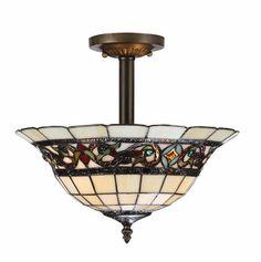 "Patriot Lighting Elegant Home Mansfield 2-Light 12"" H Bronze Semi-Flush Mount Model Number: 15194  |  Menards® SKU: 3514417 Variation: Bronze"