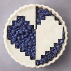 blueberry vector heart pie✨