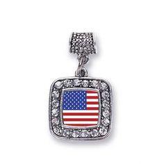 American Flag Memory Charm