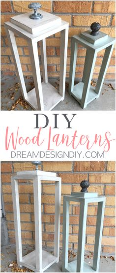 Make your own easy DIY wood lantern project from scrap wood. Lanterns are very versatile for decorating both inside and outside and they add ambience to a space. They make great centerpieces at weddings or for a party. They work in several decorating styles such as modern styles, coastal decor or a rustic, farmhouse, vintage style. #lanterns #woodlanterns #rustic #coastal #homedecor
