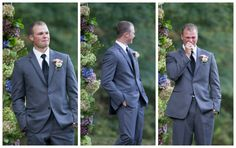 Alyssa & AJ Wedding - Ashley Hayes Photography - Wedding - First Look - Groom - Happy Tears