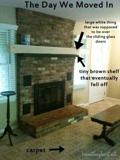 Good Free of Charge traditional Fireplace Remodel Ideas Fireplace Makeover Reve. Good Free of Charge traditional Fireplace Remodel Ideas Fireplace Makeover Reve. Fireplace Vent, Simple Fireplace, Fireplace Update, Paint Fireplace, Fireplace Built Ins, Brick Fireplace Makeover, Farmhouse Fireplace, Fireplace Remodel, Fireplace Surrounds