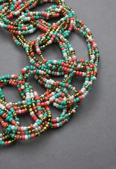 Multi-Color Bohemian Beads String Woven Necklace - Necklace - Accessory - Retro, Indie and Unique Fashion