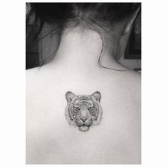 celebritattoo:  Ariel Winter | Fine line style tiger head tattoo...