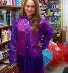 Vinyl Raincoat, Pvc Raincoat, Plastic Raincoat, Rain Bonnet, Plastic Mac, Hands On Hips, Pvc Vinyl, Raincoats For Women, Rain Wear