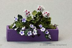 More than 30  Miniature Scale Plants and Flowers to Make From Paper: Make a Miniature Window Box