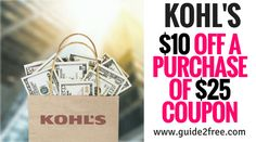 Head over to Kohl's and use thiscoupon good for $10 off your purchase of $25or more! Valid May25-29!If you prefer to shop online you can use coupon codeTAKE10. Select free in-store pickup to save on shipping, otherwise, free shipping on orders $75+ or more. You may also earn $5 Kohl's Cash for every $25 spend in store, online or at any Kohl's Kiosk/App!