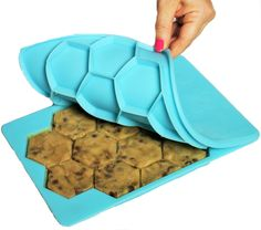 The Smart Cookie is the best way to shape, store and freeze your homemade cookie dough!  Always have fresh baked cookies just minutes away.