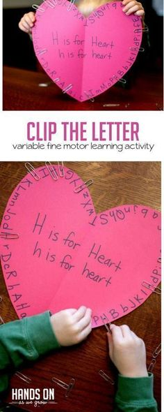 Clip the letter variable fine motor learning activity