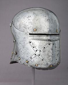 Sallet Date: ca. 1500–1510 Culture: German Medium: Steel, copper alloy, leather Dimensions: H. 10 1/4 in. (26 cm); W. 9 1/8 in. (23.2 cm); D. 12 in. (30.5 cm); Wt. 6 lb. 3 oz. (2820 g)