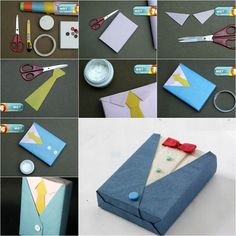 Father's day is tomorrow! Have you packed your gift already? If you want to add a personal touch to the gifts for your dad, you can wrap the gifts in a creative way. Here is a super cute idea to make a unique gift wrapping like a suit and tie. …