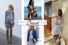 Pregnancy style TIPS and INSPO >> casual dress   Maikshine blog   Consejos de estilo e inspiración para embarazadas >> vestidos de sport