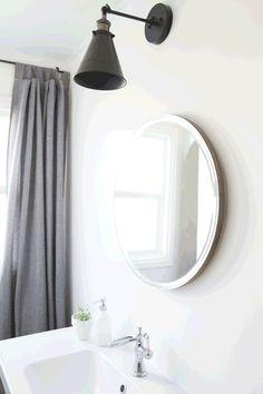 Round Sliding Bathroom Mirror | Stacy Risenmay