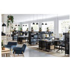 70df3556015 BEKANT Storage unit on castors - mesh black - IKEA Ikea Bekant Desk