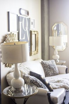 A glam gold and neutral apartment you MUST see (it's filled with fabulous and frugal tips and Ikea hacks)