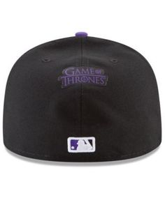 New Era Colorado Rockies Game of Thrones 59FIFTY Fitted Cap - Black 7 1/4