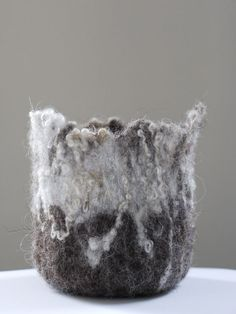 Claire Cawte Textiles Textured felted vessel