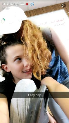 "Millie Bobby Brown and Sadie Sink at the set of ""Stranger Things Stranger Things Actors, Bobby Brown Stranger Things, Stranger Things Funny, Eleven Stranger Things, Stranger Things Netflix, Sadie Sink, Celebs, Celebrities, Bobbi Brown"