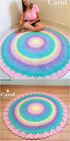 Floor Mat Design Crochet Pattern Idea Floor Mat Design Crochet Pattern Idea Learn the basics of how Crochet Mat, Crochet Rug Patterns, Crochet Carpet, Crochet Mandala Pattern, Crochet Round, Crochet Home, Crochet Designs, Crochet Crafts, Crochet Projects