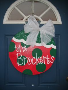 Christmas Door Hanger Large Ornament by laura611 on Etsy, $25.00