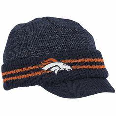 b64780592e7 Broncos Ladies Knit Visor Hat