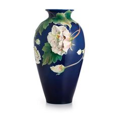 Made by Franz Collection. 810524017459 Part: The Franz Porcelain Collection Cotton Rose Flower Large Vase Limited Edition measures Rose Vase, Flower Vases, Vase Centerpieces, Vases Decor, Design Floral, Keramik Vase, Clay Vase, Wooden Vase, Vase Shapes