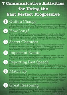 POSTER: 7 Communicative Activities to Review the Past Perfect Progressive