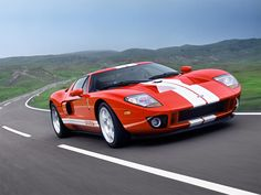 ford GT, 2005 in red  Someday he will own this :0)