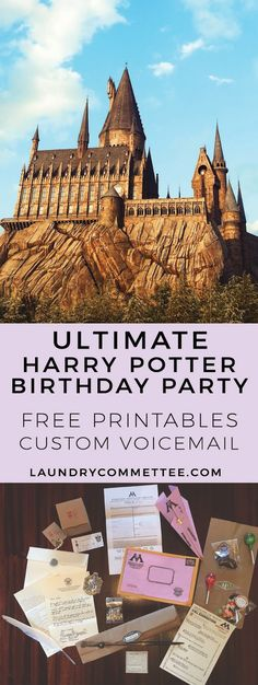 Ultimate Harry Potter Birthday Party. Free printable and a custom Potter voicemail. #HPcelebration