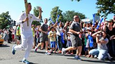 Former England cricket captain Michael Vaughan ran down Gatting Way en route to Hillingdon Leisure Centre on a scorching afternoon in west London