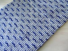 Indigo mustache print Indian cotton fabric block print cotton hand printed sewing crafting quilting cotton half yard