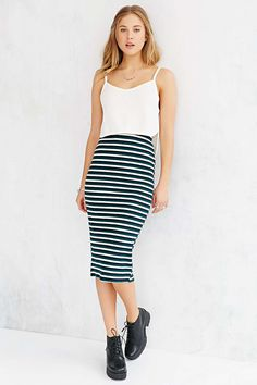 Glamorous Fitted Midi Skirt #UrbanOutfitters