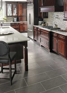 Focus Graphite Porcelain Flooring Room Scene