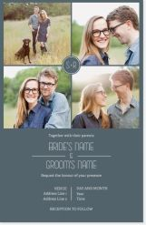 monogram photo grid Invitations & Announcements