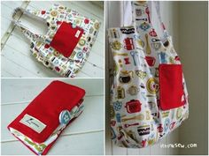 """The Eco-Friendly Shopping Bag... in a book. By """"I think sew"""""""