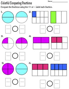 Printable Fraction Worksheets