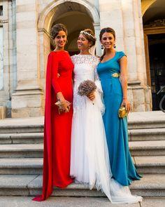 Red shoulder trains long sheath evening dress gown boatneck bateau quarter sleeves grecian
