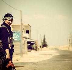 From Kobani kurdish women Fighter  (YPJ)