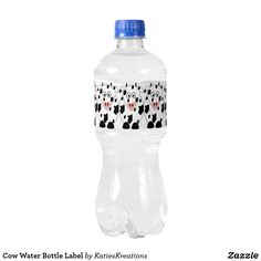 Cow Water Bottle Label