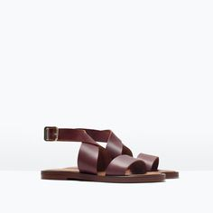 ZARA - SHOES & BAGS - LEATHER SANDAL WITH BUCKLE